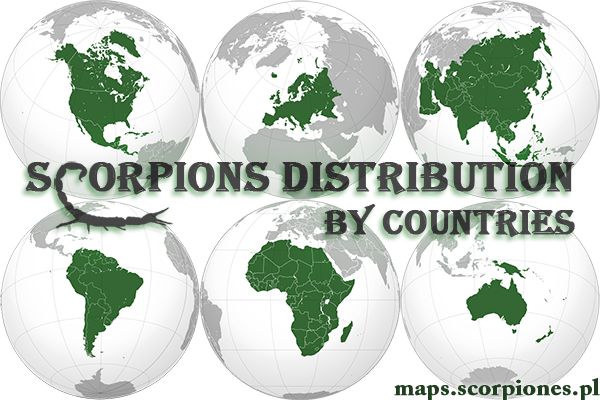 Scorpions distribution by countries Banner